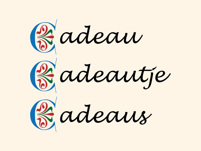 De Correcte Spelling Van Cadeau Cadeautje En Cadeaus